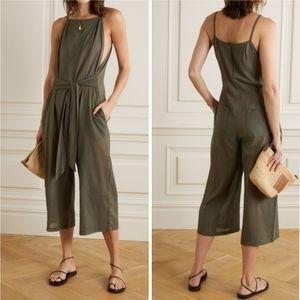 NWT Skin Brisa Tie Front Cotton-Voile Jumpsuit